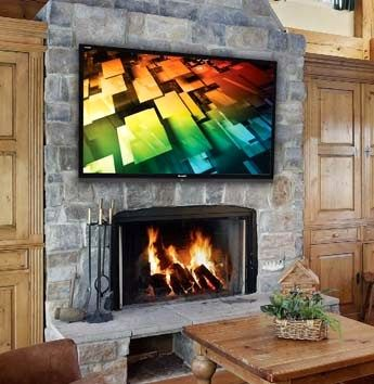 70 led tv mounted over fireplace living room in 2019 tv above rh pinterest com