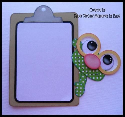 Bookworm-Photo-Frame-Premade-Paper-Piecing-for-Scrapbook-Pages-by ...