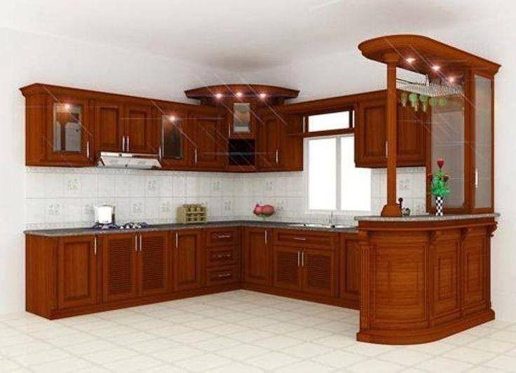 Cocina Integral Madera Escuadra Diseno Residencial A