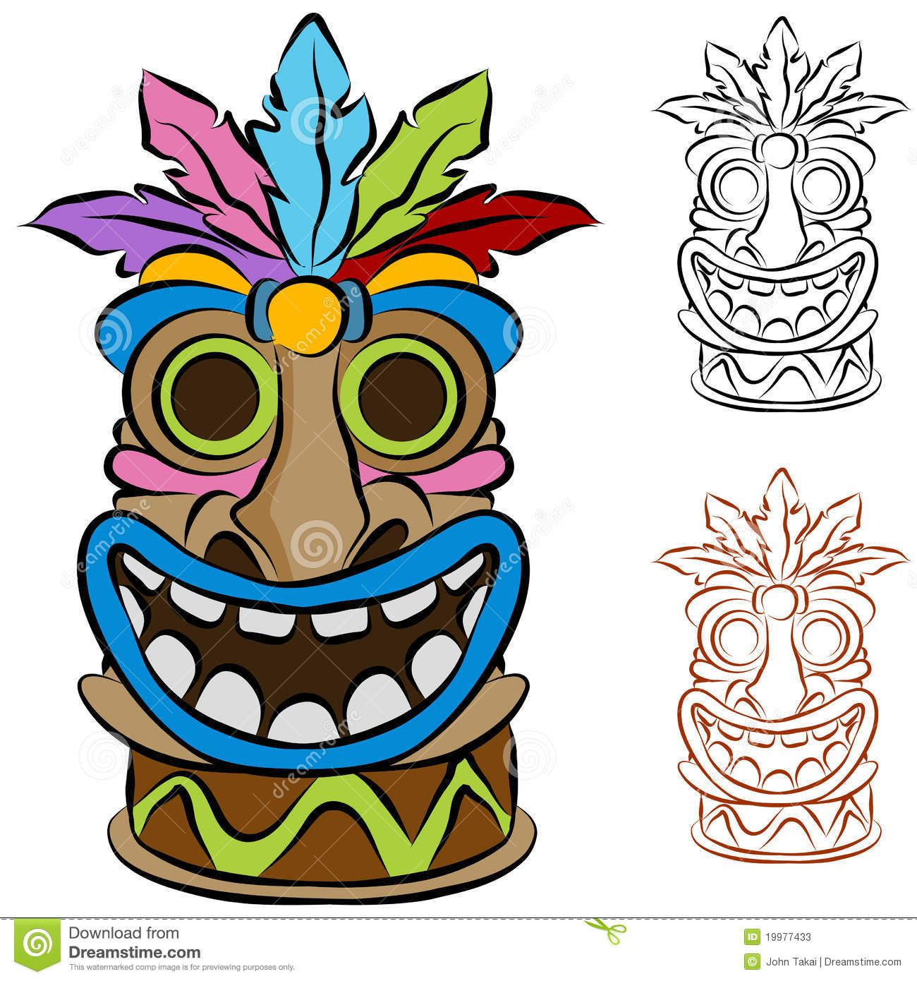 Liegestuhl clipart kostenlos  Happy Tiki Mask Clipart | LUAU PARTY | Pinterest