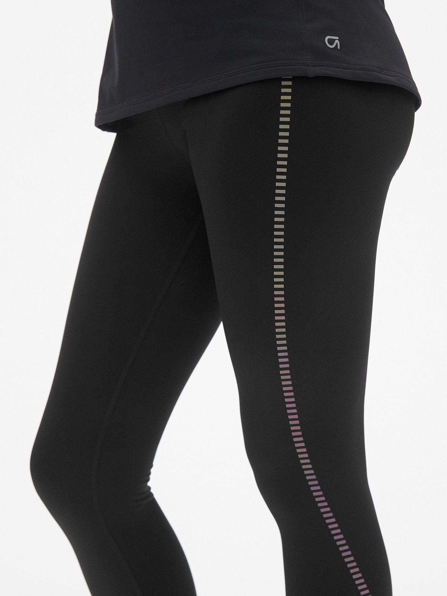 f0c09f20d8d00 GapFit Winterbrush High Rise Reflective Stripe Full Length Leggings ...
