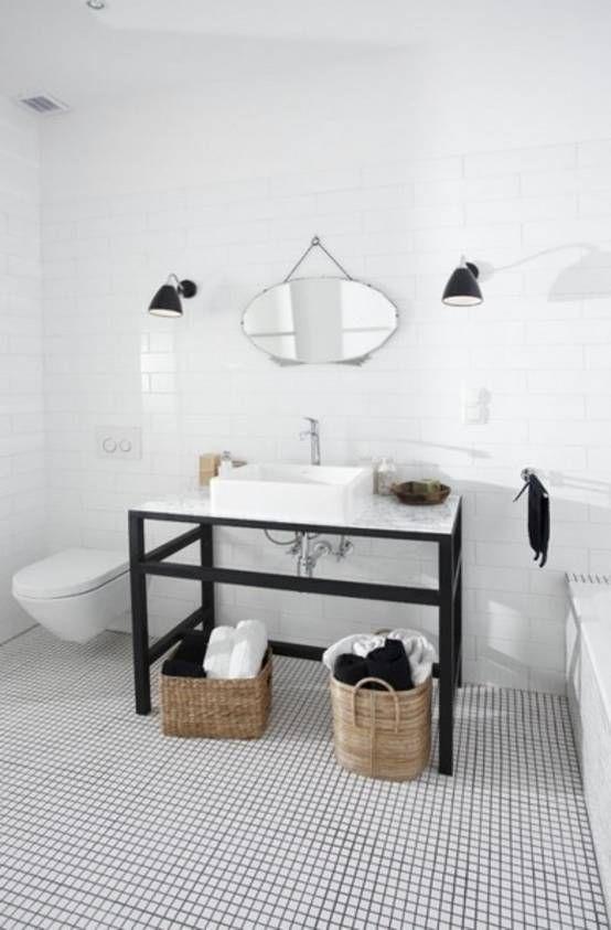 Große Ideen für eine kleine Wohnung Bathroom black, Basement