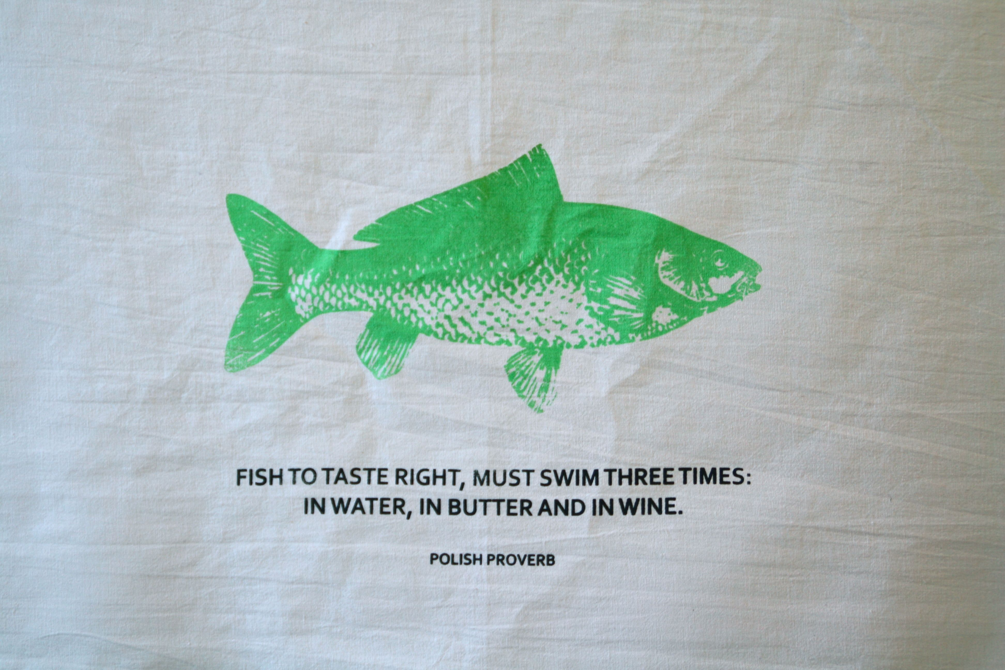 $13 (No. 12 \'Fish to Taste Right, Must Swim Three Times: In Water ...