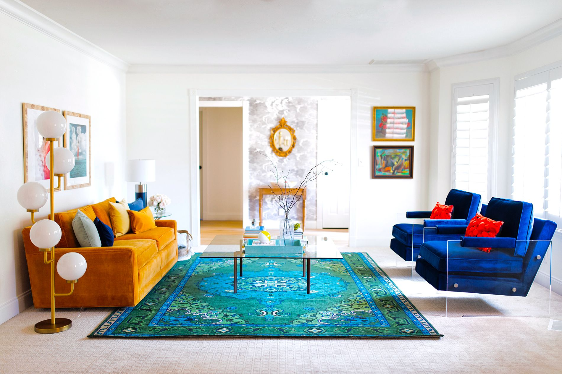 Colorfully Modern Formal Living Room | Formal living rooms ...