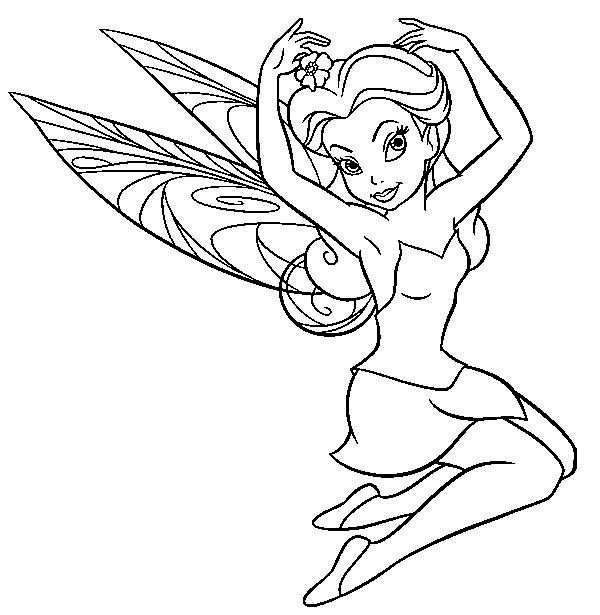 Charming Rosetta In Pixie Coloring Page Netart Coloring Pages Fairy Coloring Pages Fairy Coloring