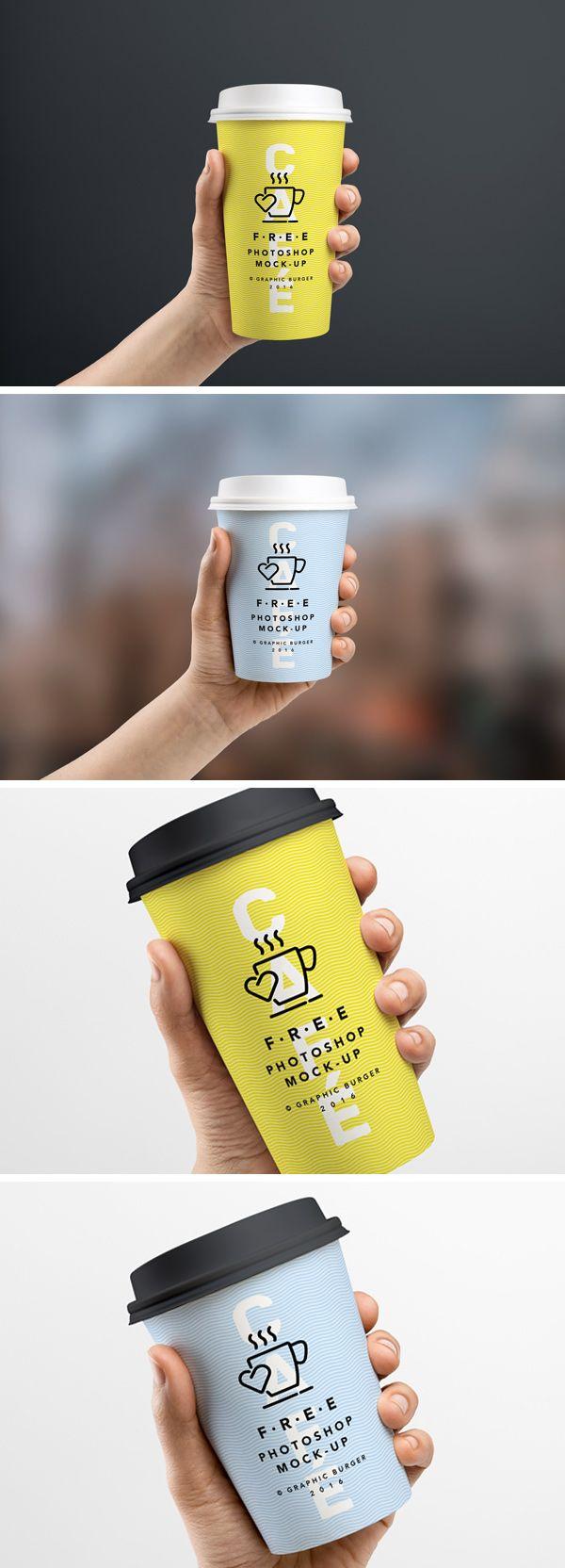 35 Mockups PSD pour vos packagings et emballages à télécharger gratuitement #coffeecup