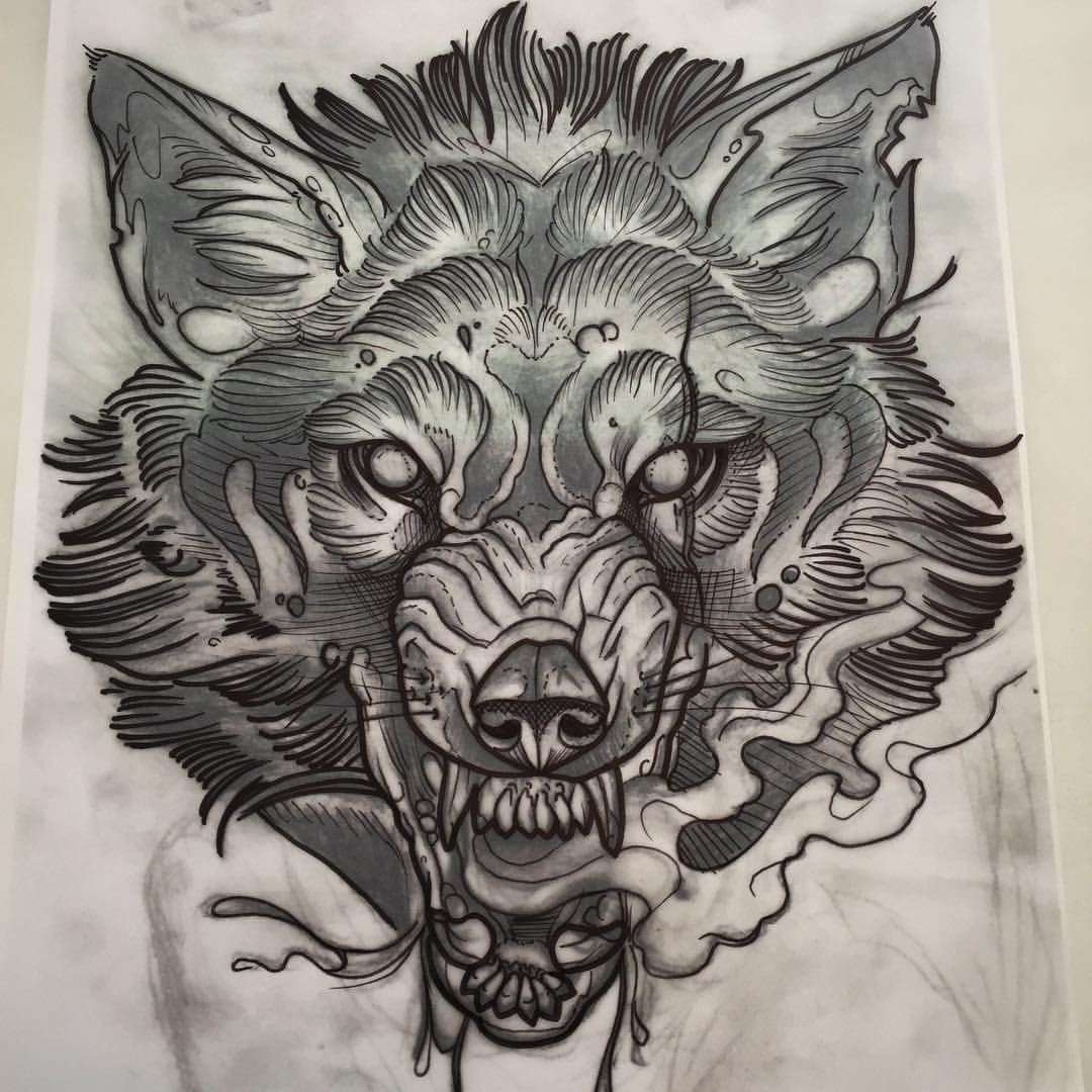 344 aprecieri 33 comentarii phil kaulen tattoo blutjugend pe beautiful sketch of a wolf growling i would want a tattoo like this but a tiger with lotus flowers all around it izmirmasajfo