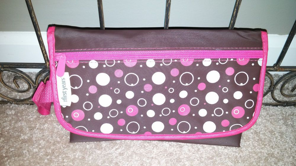 """Learning Curve Brand """"the first years"""" TRAVEL CHANGE MAT Baby Girl Brown Pink #thefirstyears"""