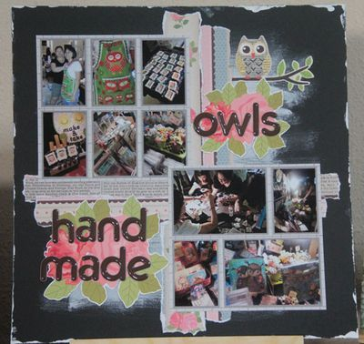 """""""Owls Handmade"""" layout by Carol Theng"""