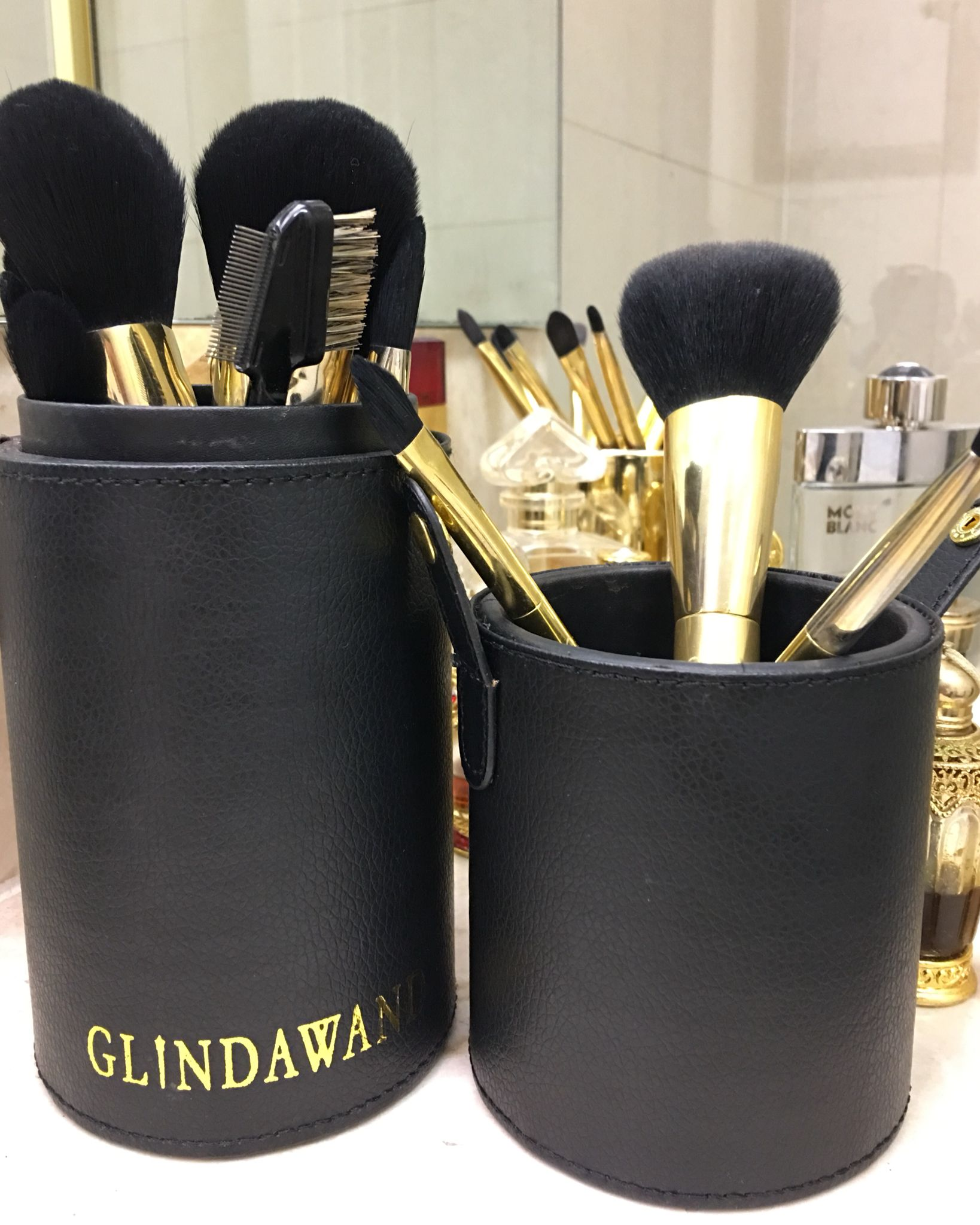 Gold Plated Makeup Brushes exclusively GlindaWand Gold