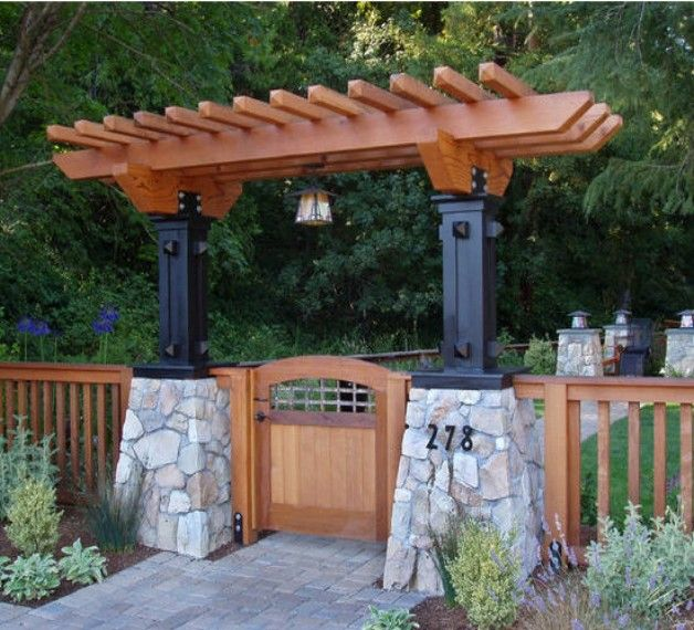 Arbor Over Gate Ideas: Garden Entrance Arbor Ideas