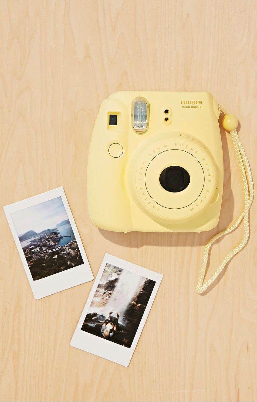 Yellow pastel Instax mini 8 Polaroid instax mini, Instax