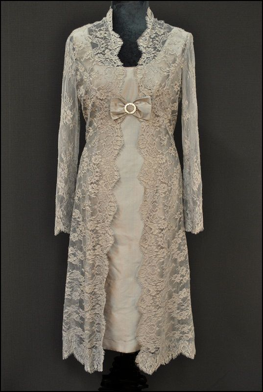 Mother Of The Bride And Groom Vintage Lace Dress Coat Hats Joyce Young