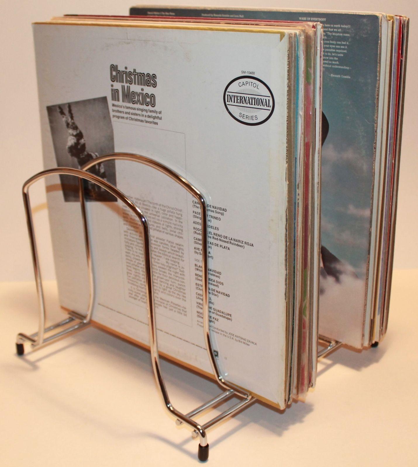 heavy duty vintage vinyl record storage rack great. Black Bedroom Furniture Sets. Home Design Ideas