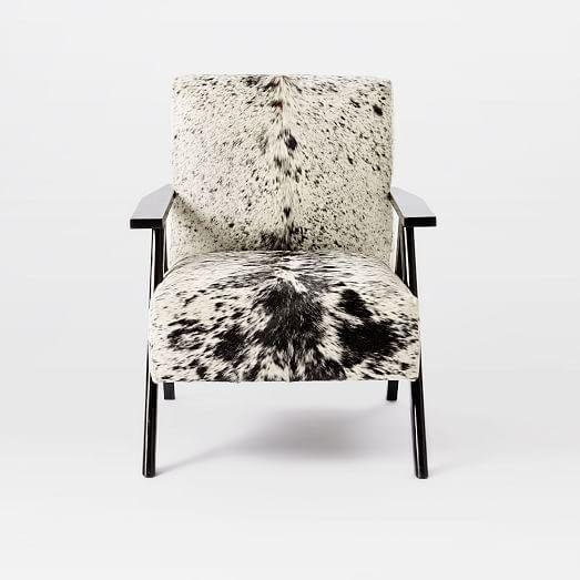 Retro Cowhide Chair Black White Cowhide Decor Retro Home Decor Retro Home