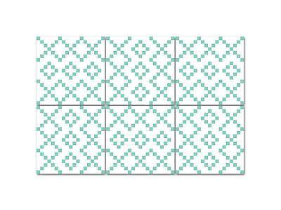 ORIGINAL BOUBOUKI Sticker//Fliesenaufkleber für Bad oder Küche