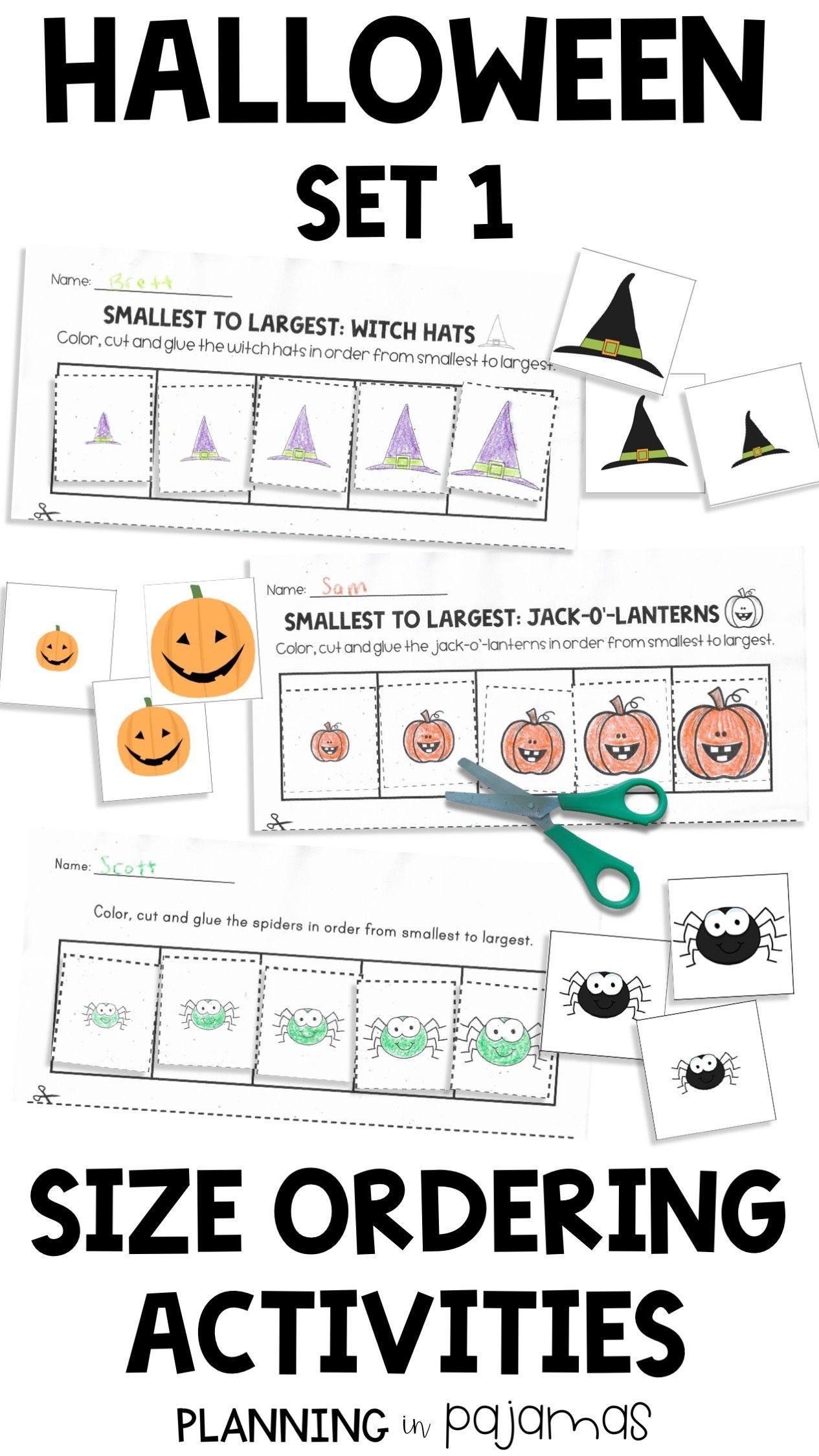 Halloween Size Ordering Set 1