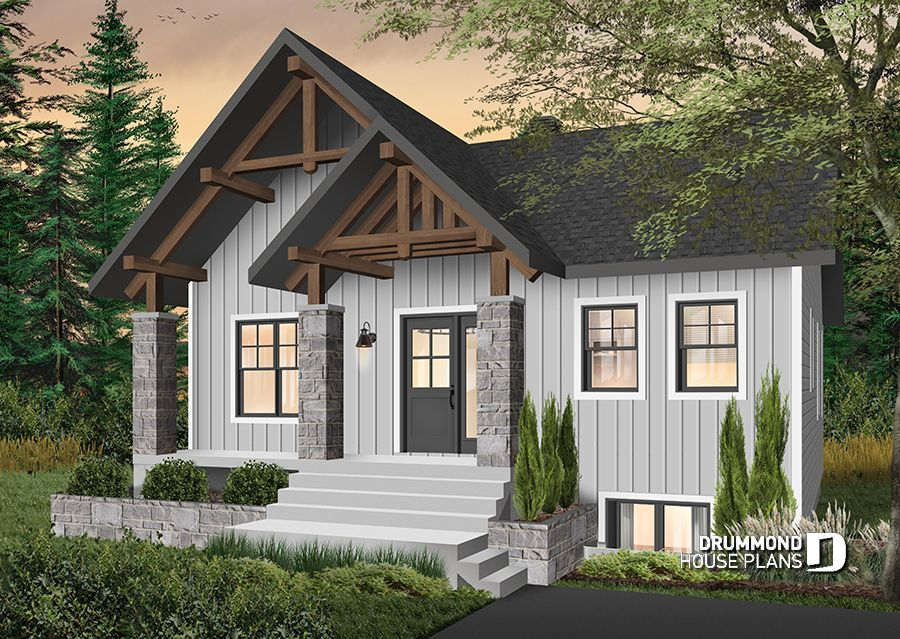 Discover The Plan 6102 Nordika Which Will Please You For Its 1 2 3 Bedrooms And For Its Modern Rustic Styles Modern Style House Plans Rustic House Plans Craftsman House