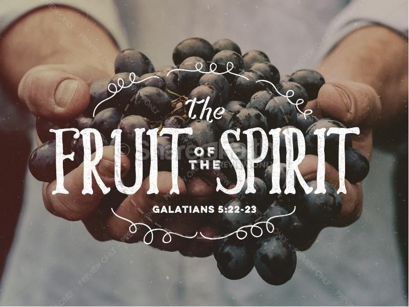The fruit of the spirit religious powerpoint template churches present the fruit of the spirit on this plentiful ministry powerpoint template sharefaith toneelgroepblik Gallery