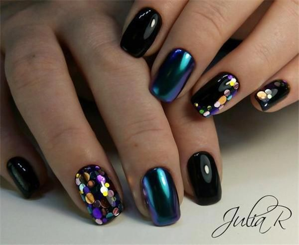 Mixed Color 3D Ultrathin Sequins Nail Glitter Flakes 1/2/3mm Sparkly DIY Tips Dazzling Paillette Nail Art Decorations