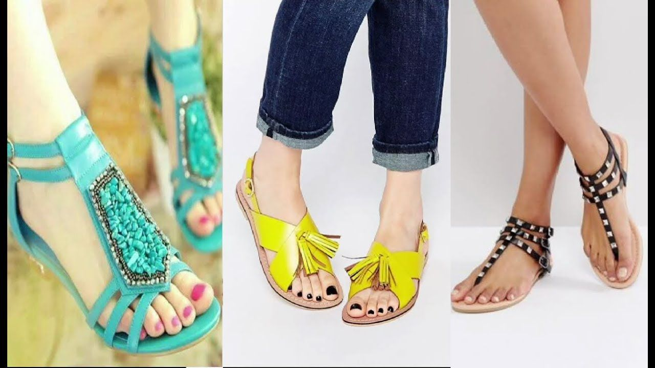 4021fdd83e9 Most Stylish   Attractive Flat Sandals Ladies Collection