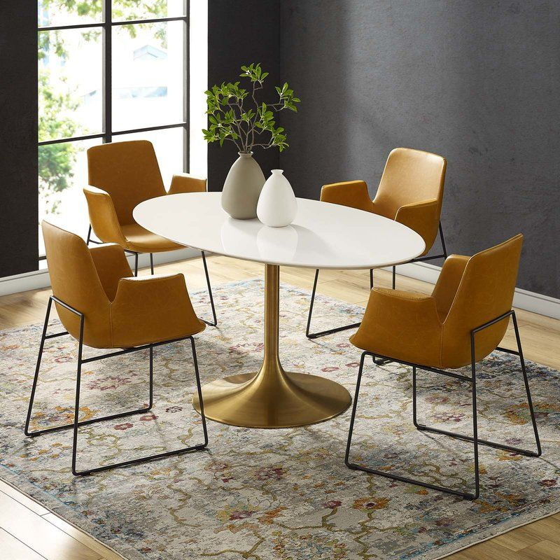 Julien Oval Dining Table Dining Table In 2019 Tulip Dining
