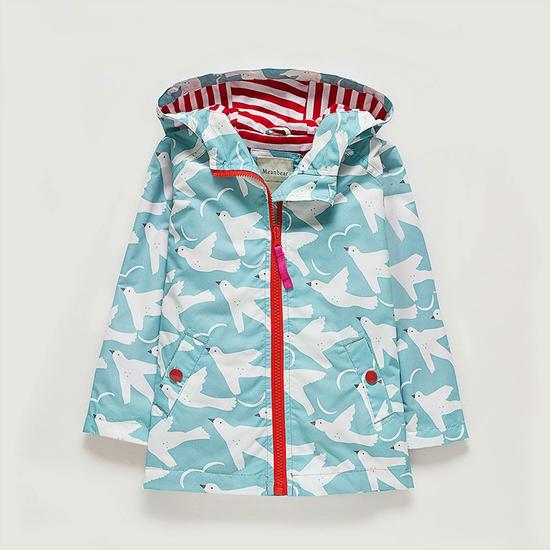 a7af6e46a Baby Girls Coat Jackets Kids Cute Flying Animal Printed Windbreaker ...