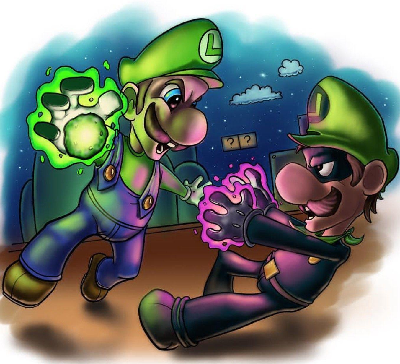 Luigi Evil Vs Good Super Mario World Mario Fan Art Luigi Mario