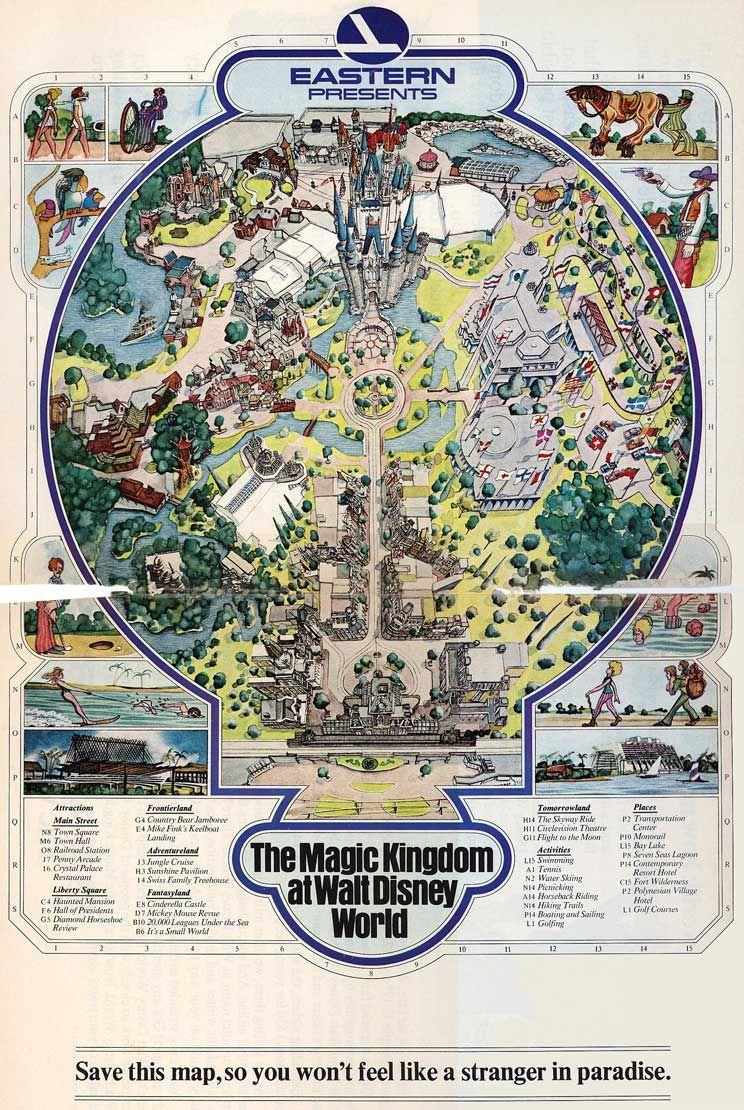 Magic Kingdom Walt Disney World 1971 Theme Park Cartography