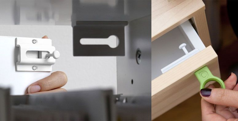 Covert Magnetic Security Drawer Latch Pieces Cachees