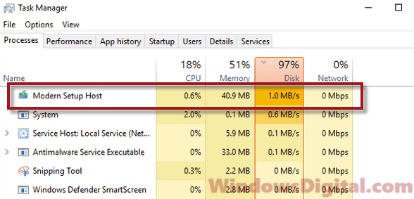 service host network service high disk usage windows 10