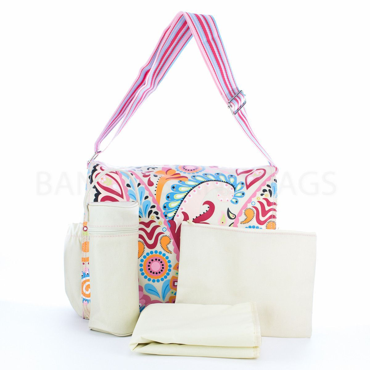 Diaper Bag Jazz Collection - Berry Paisley