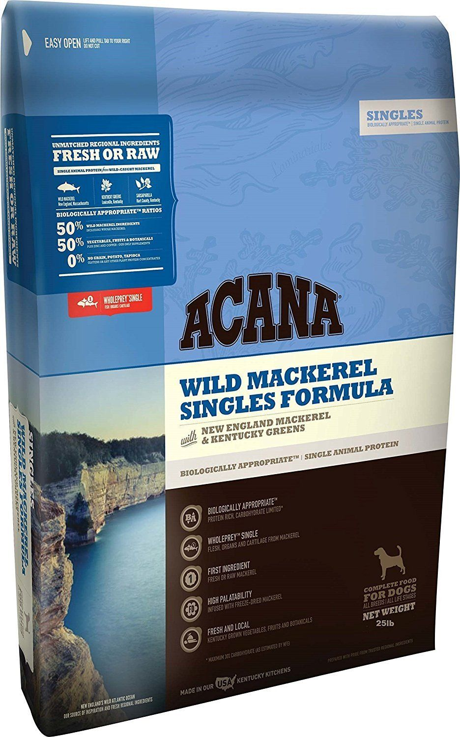 Acana Singles Wild Mackerel Dry Dog Food Click Image To Review
