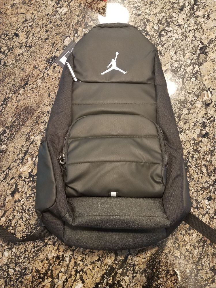 NIKE AIR JORDAN ALL WORLD LAPTOP BACKPACK BLACK-SILVER 9A1640-023  Jordan   Backpack