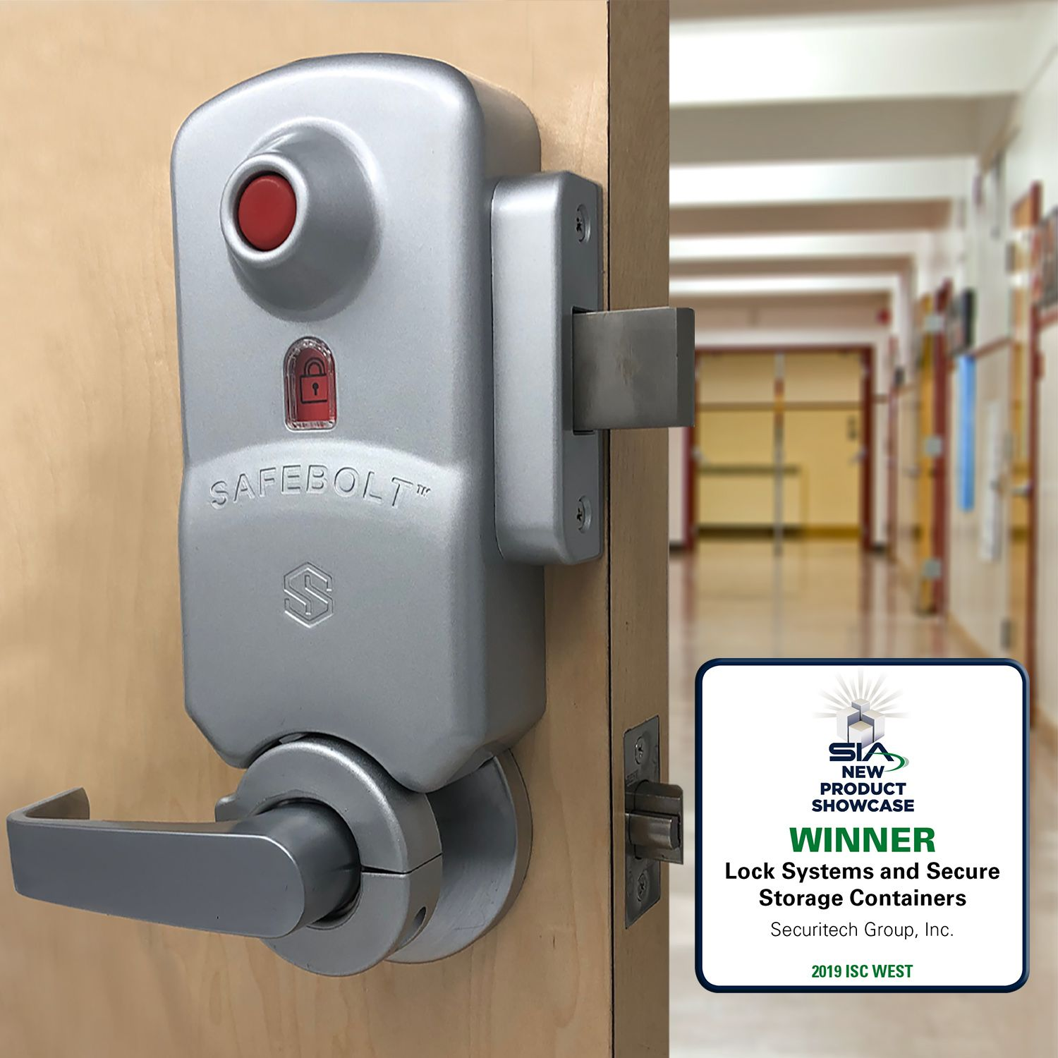 Safebolt Is The First Barricade Lock That Respects All Fire And Life Safety Codes For Locations Such As Classrooms O School Security Security Locks Safe Room