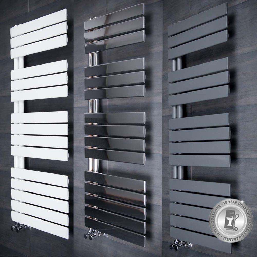 Designer Handtuchheizkörper Handtuchwärmer Badheizkörper Grau