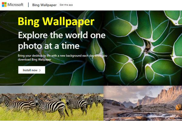 Microsoft Released Bing Wallpaper To Set Desktop Image Wallpaper App Microsoft Desktop Images