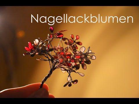 Frühling Dekoblumen Nagellack Blumen Blüten Aus Draht Und