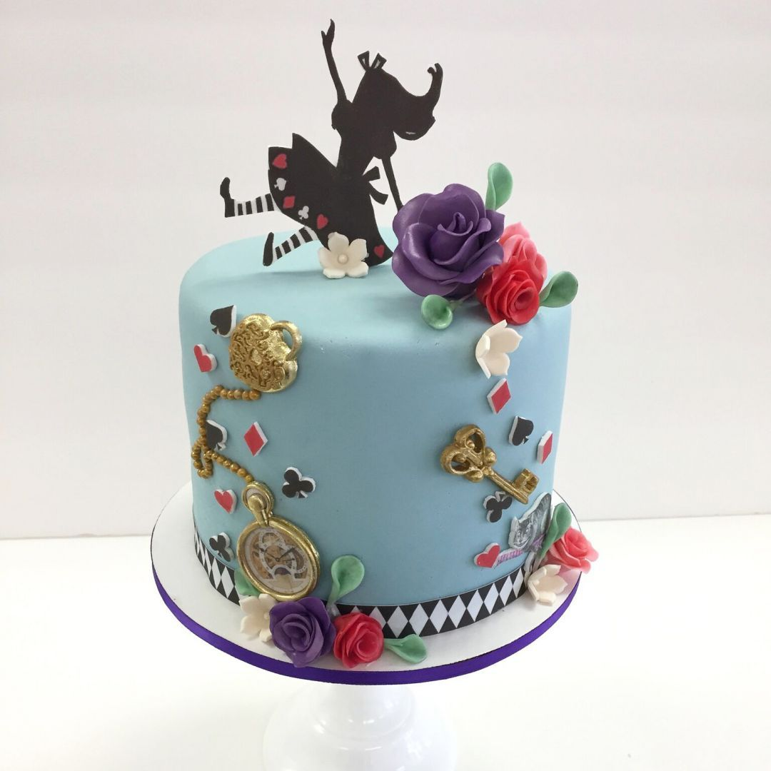 Vintage Alice In Wonderland Baby Shower Cake By Frost It Cakery