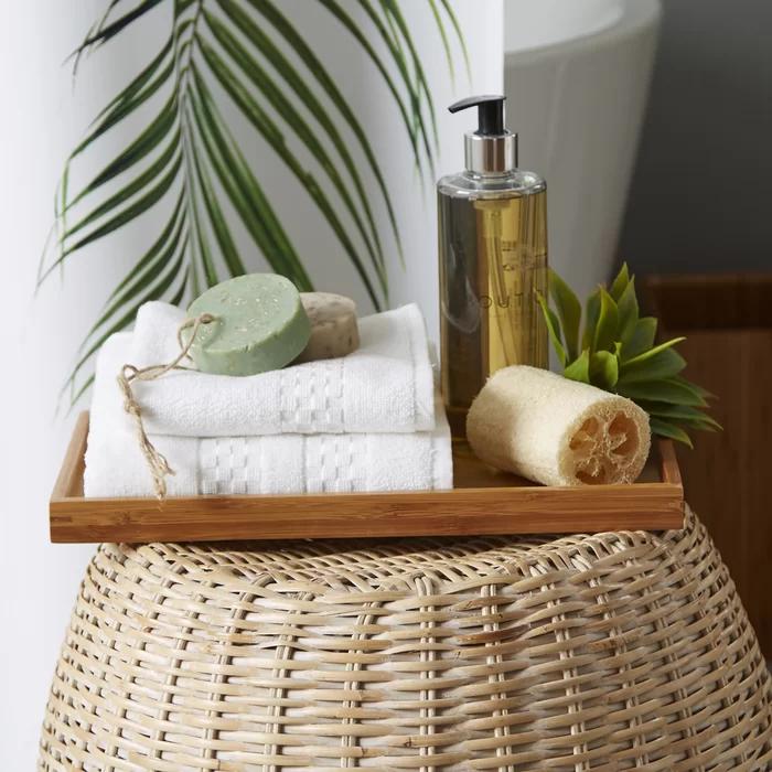 Photo of Cillian Bamboo 5-Piece Bathroom Accessory Set
