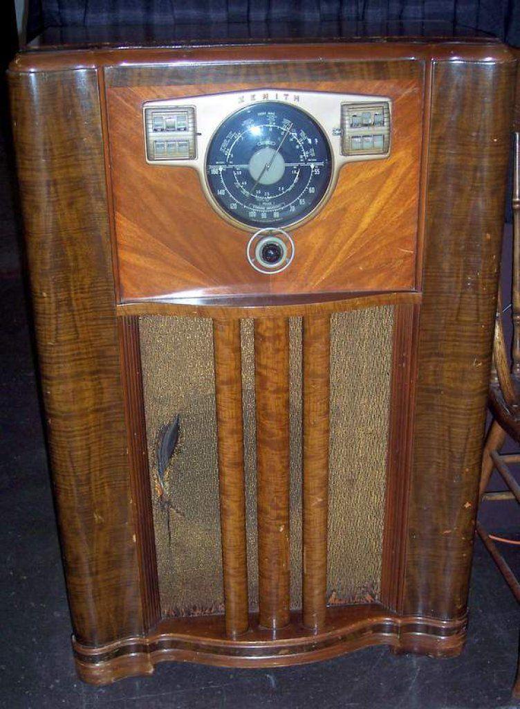 1930 S Period Zenith Floor Mod Auctions Online Antique Radio Vintage Radio Radio