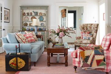 Small Space Living Rooms Humpdays With Houzz Town Country Living Shabby Chic Decor Living Room Cottage Style Living Room Cottage Decor Living Room