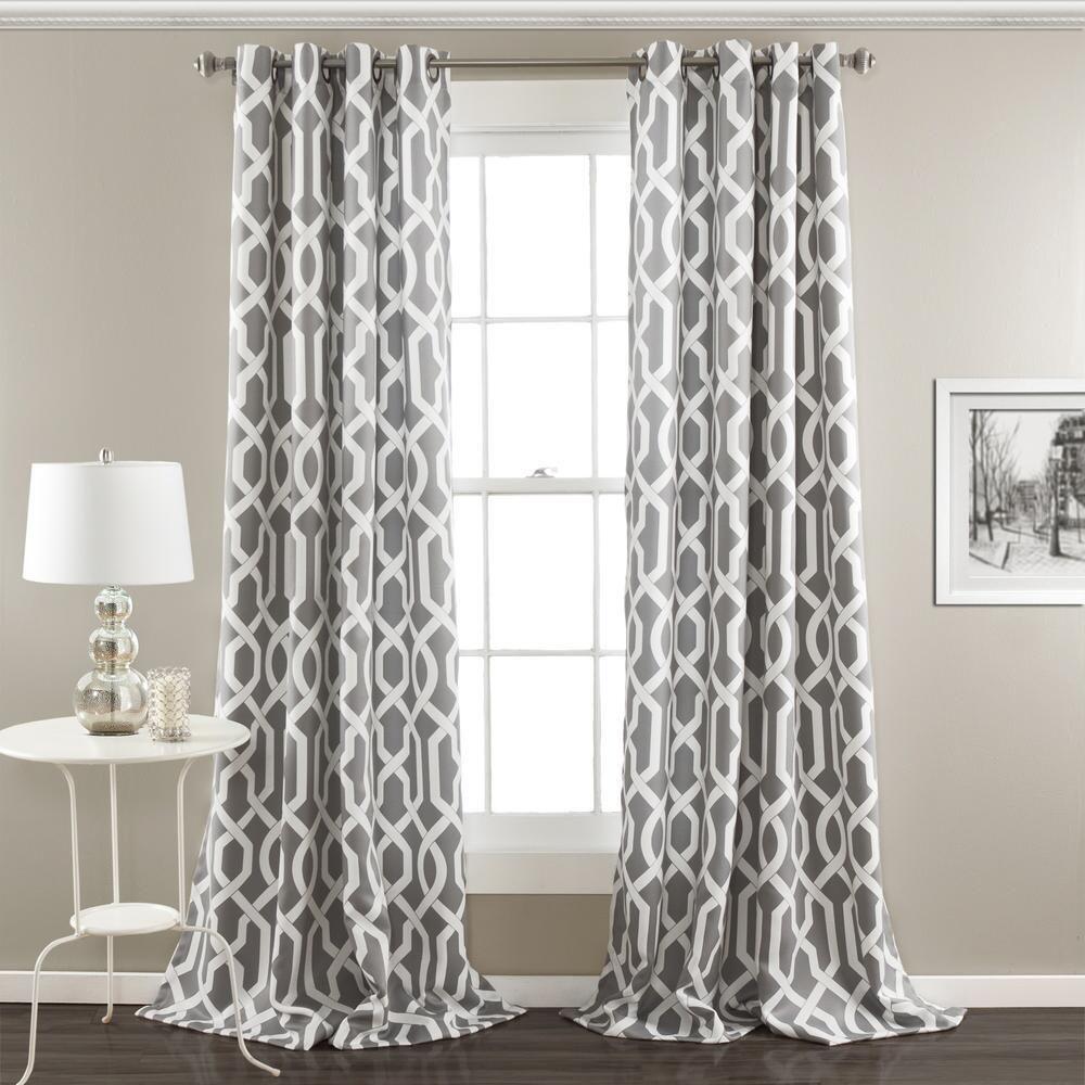 Lush Decor Edward Trellis Room Darkening Window Curtain