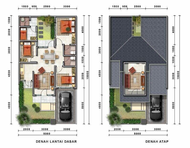 820 Gambar Desain Rumah Minimalis Modern Dan Denahnya HD Paling Keren Untuk Di Contoh