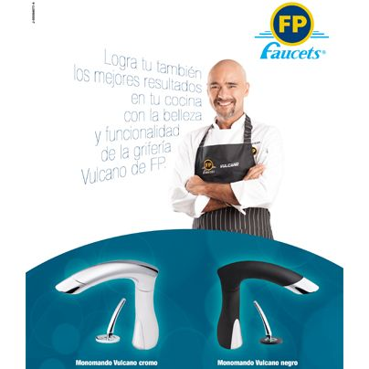 El chef venezolano Sumito Estévez también está encantado con el diseño y funcionalidad de nuestra nueva grifería VULCANO para cocina...