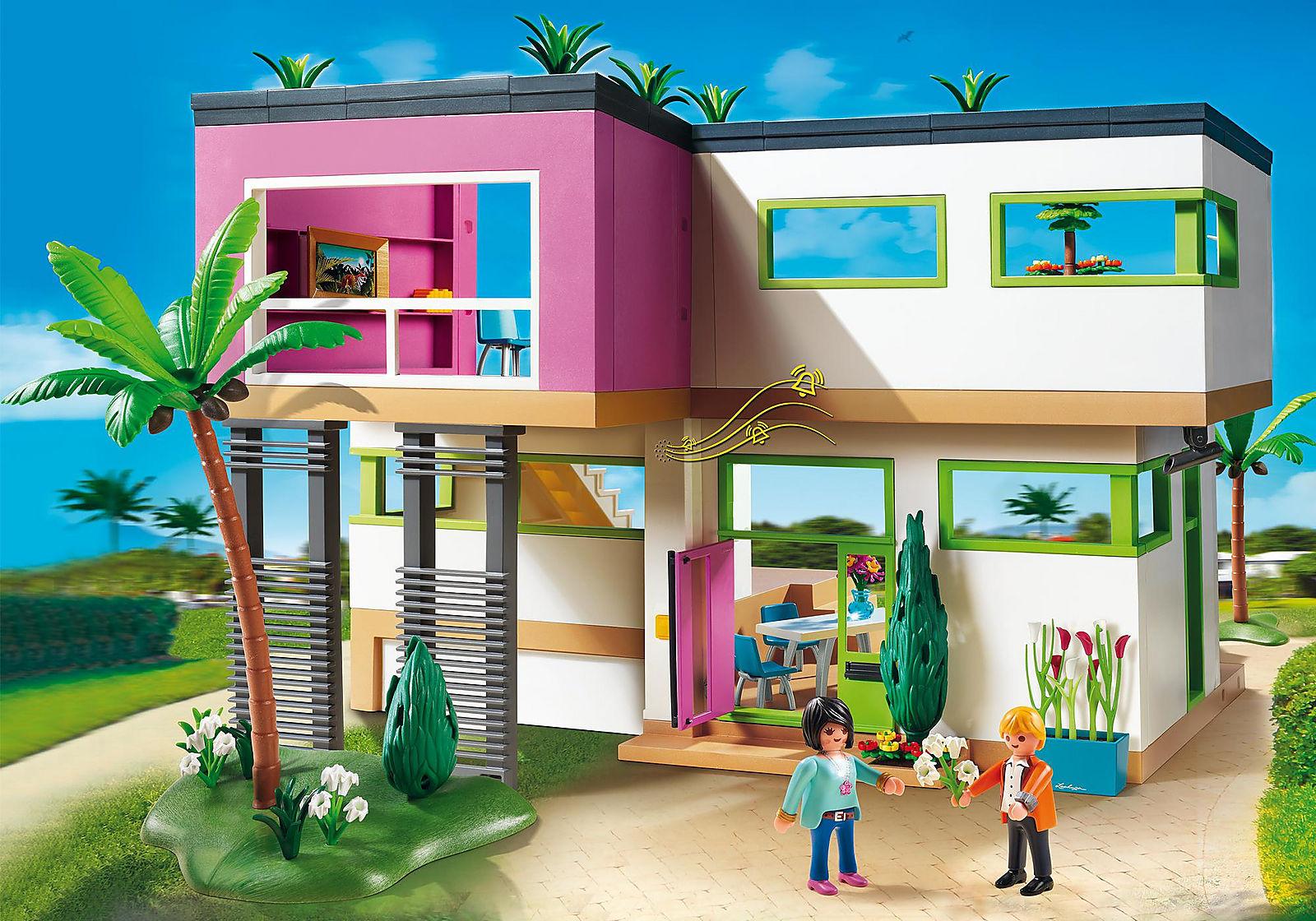 Maison Moderne Playmobil Un Jouet Pas Cher Pour Vos Enfants Chambre Enfant Maison Zenidees Maison Moderne Playmobil Maison Moderne Maison Playmobil