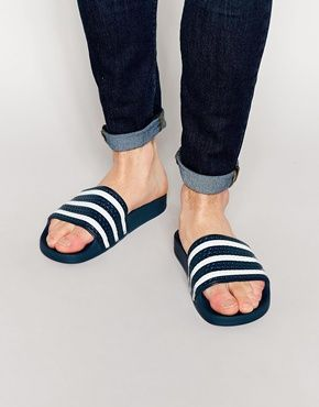 727fcaea45 adidas Originals Adilette Slider Flip Flops | Male Fashion in 2019 ...
