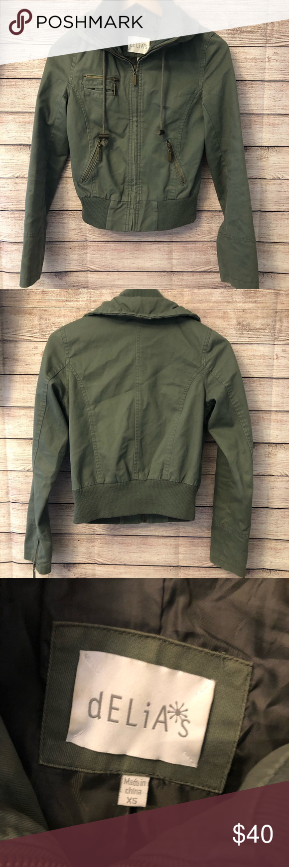Delia S Army Green Bomber Jacket Army Green Bomber Jacket Green Bomber Jacket Army Green Bomber [ 1740 x 580 Pixel ]