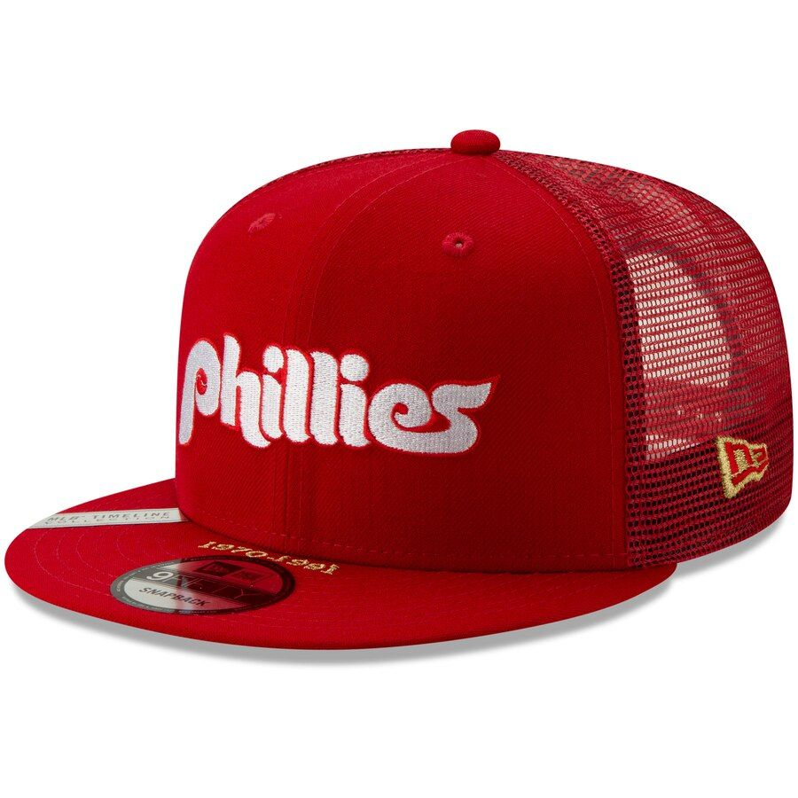 cheap for discount 8a043 dc3b8 Philadelphia Phillies New Era Timeline Collection 9FIFTY Snapback  Adjustable Hat – Red, Your Price
