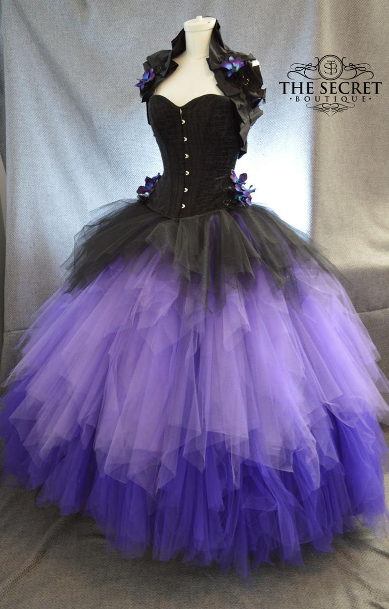 Layered Tulle Wedding Skirt Bridal Separates Gothic Ombre Etsy Tulle Wedding Skirt Purple Wedding Dress Gothic Wedding Dress [ 1241 x 794 Pixel ]